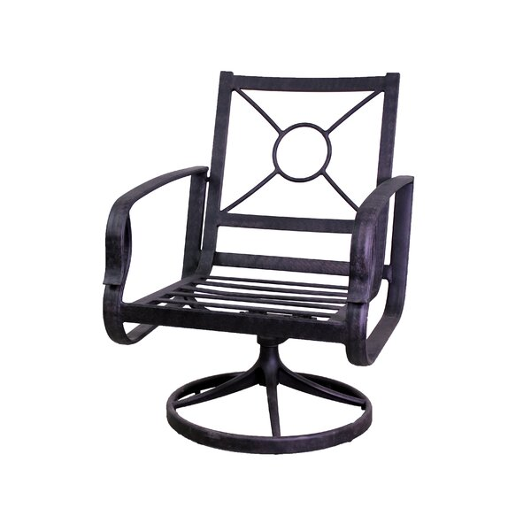 Waynesburg Swivel Patio Dining Chair (Set of 2) by Red Barrel Studio