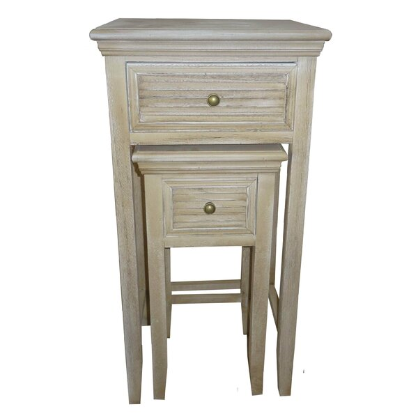 Berrian 2 Piece Wood Louvered 2 Drawer Nightstand Set by Gracie Oaks