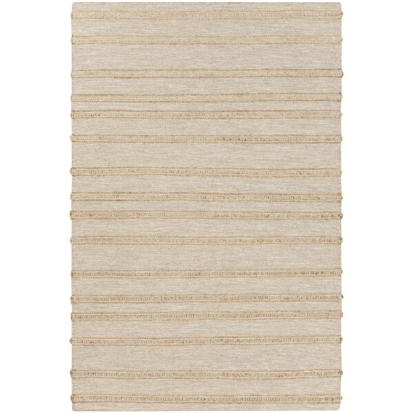 Brewington Handwoven Beige/Wheat Area Rug by Highland Dunes