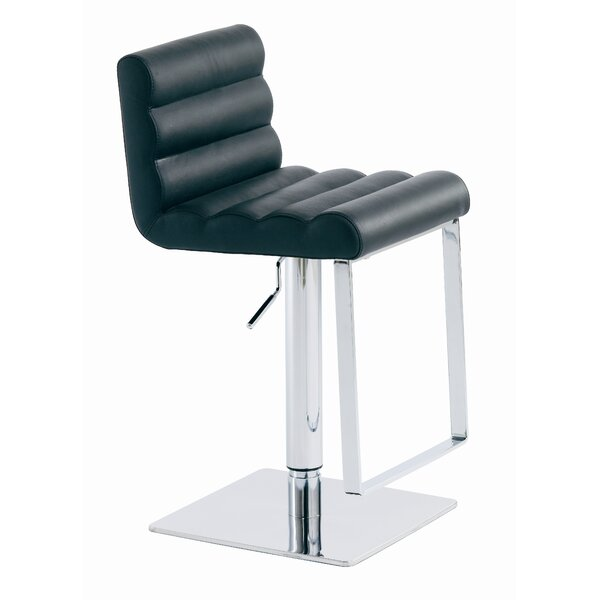 Fanning Adjustable Height Swivel Bar Stool by Nuevo Nuevo