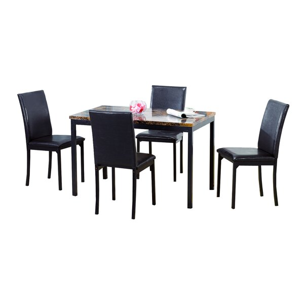 Della 5 Piece Dining Set by Ebern Designs