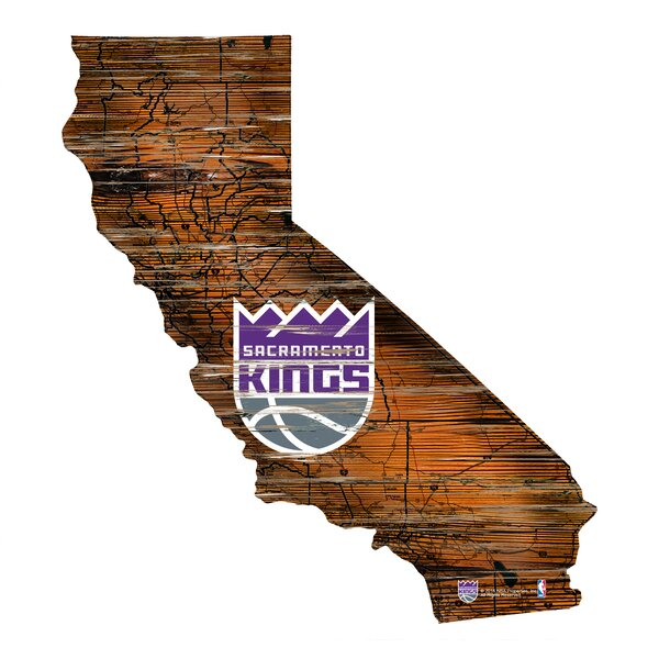 NBA Kings Distressed State Wall Décor by Fan Creations