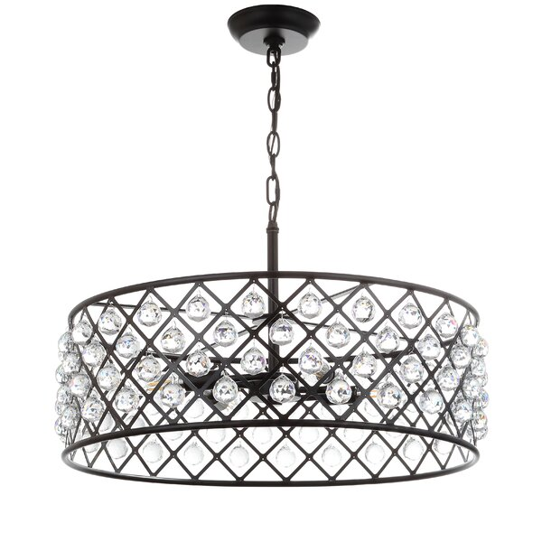 Chesler 4 - Light Candle Style Drum Chandelier with Crystal Accents by House of Hampton House of Hampton