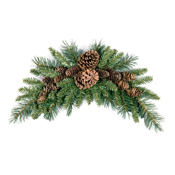 Pine Cone Crescent Swag by The Holiday Aisle