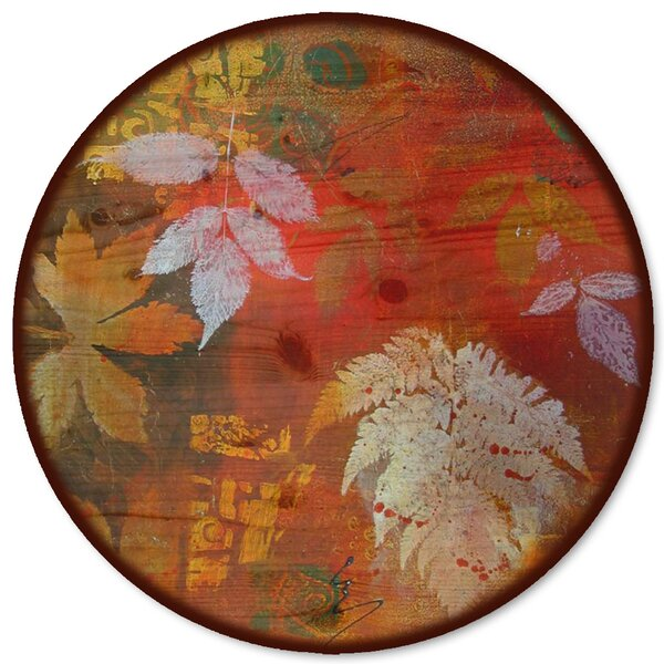 Leaves Red Lazy Susan by WGI-GALLERY