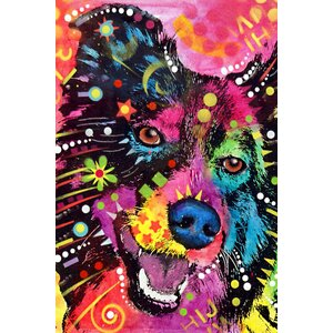 'Border Collie' by Dean Russo Graphic Art on Wrapped Canvas by East Urban Home