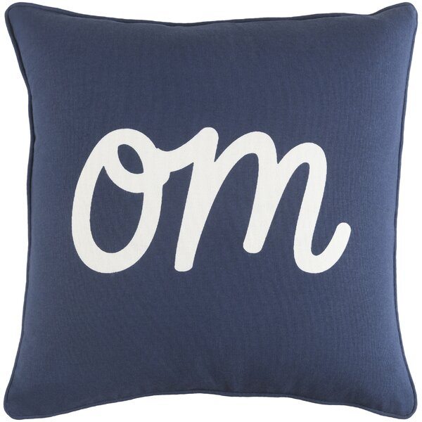 Carnell Om Cotton Throw Pillow by Mercury Row