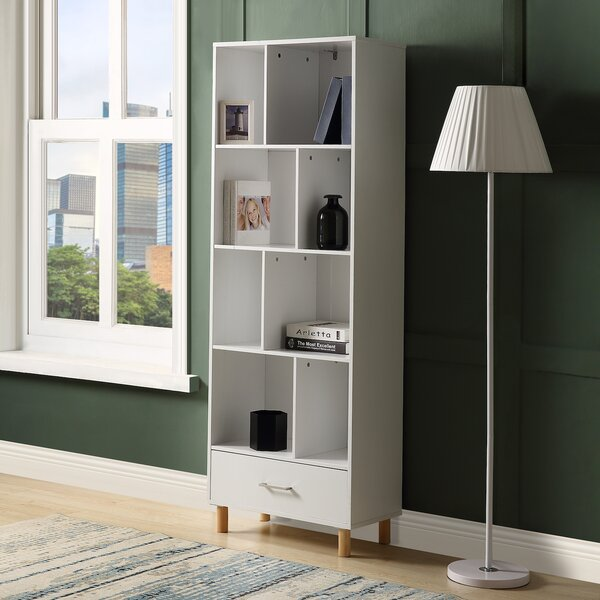 Feofan Wood Standard Bookcase By Latitude Run