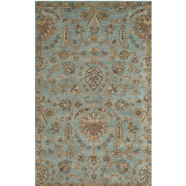 Cranmore Hand-Tufted Blue/Beige Area Rug by Charlton Home