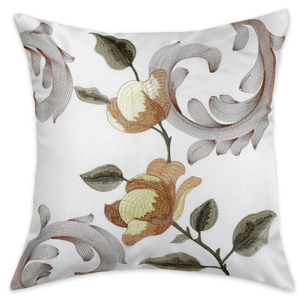 Taya Embroidered Pillow Cover by Charlton Home