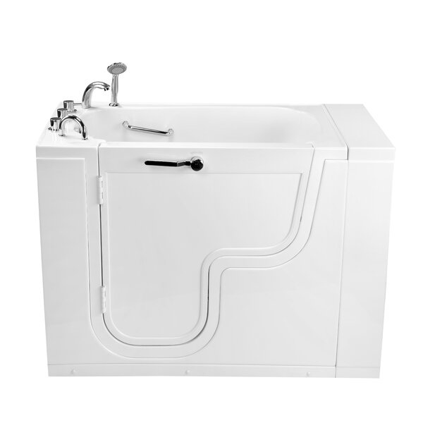 Transfer26 Wheelchair Accessible Acrylic with Left Outward Swing Door 26 x 26 Walk-In Bathtub by Ella Walk In Baths