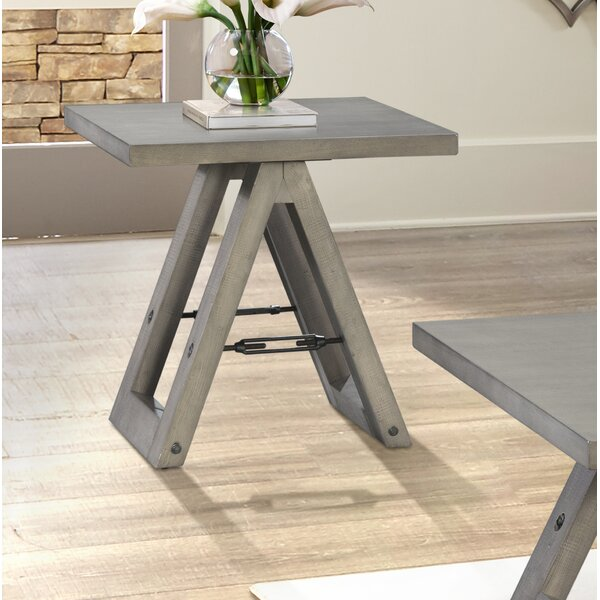Eliza Sawhorse End Table by 17 Stories