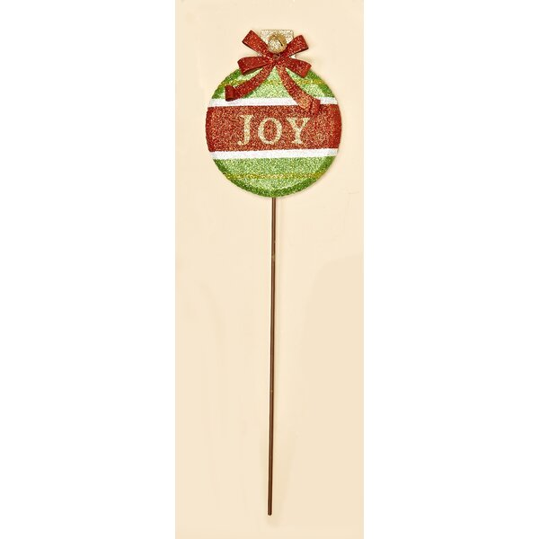 Joy Christmas Garden Stake by Worth Imports