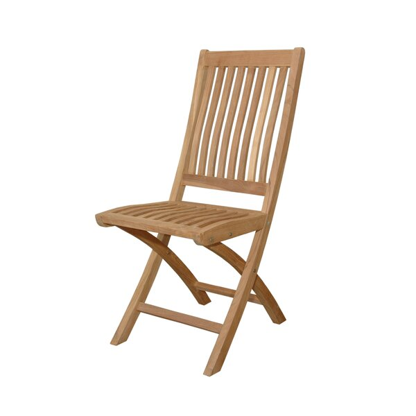 Tropico Folding Teak Patio Dining Chair (Set of 2) by Anderson Teak