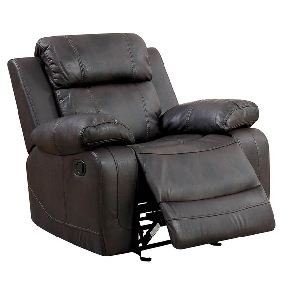 Hargett Leather Glider Recliner [Red Barrel Studio]