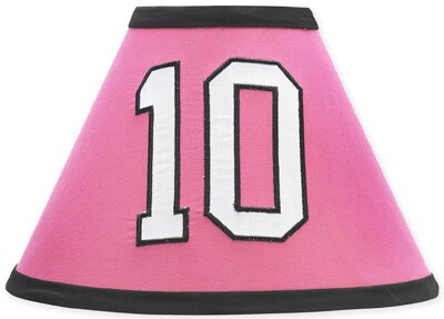Soccer Pink 10 Latex Free Empire Lamp Shade by Sweet Jojo Designs