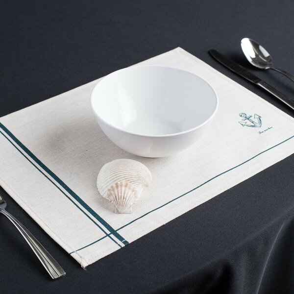 Anchor Away Cotton Placemat (Set of 2) by Linen Tablecloth