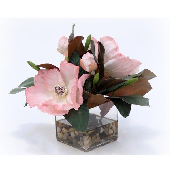 Water Look Floral Arrangement in Vase by August Grove