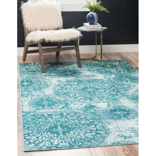 Brandt Turquoise Area Rug by Mistana