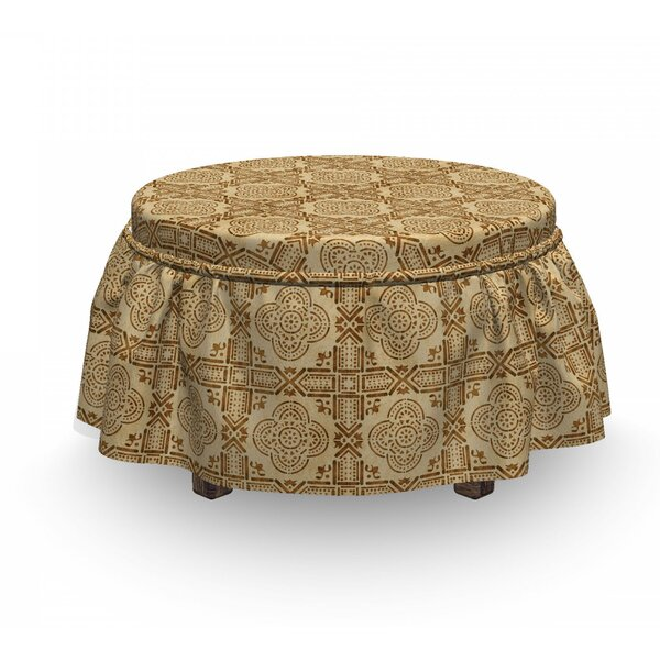 Moroccan Quatrefoil Ottoman Slipcover (Set Of 2) By East Urban Home
