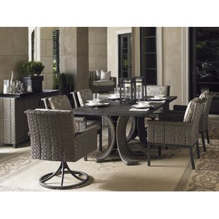 Blue Olive 7 Piece Dining Set with Cushions