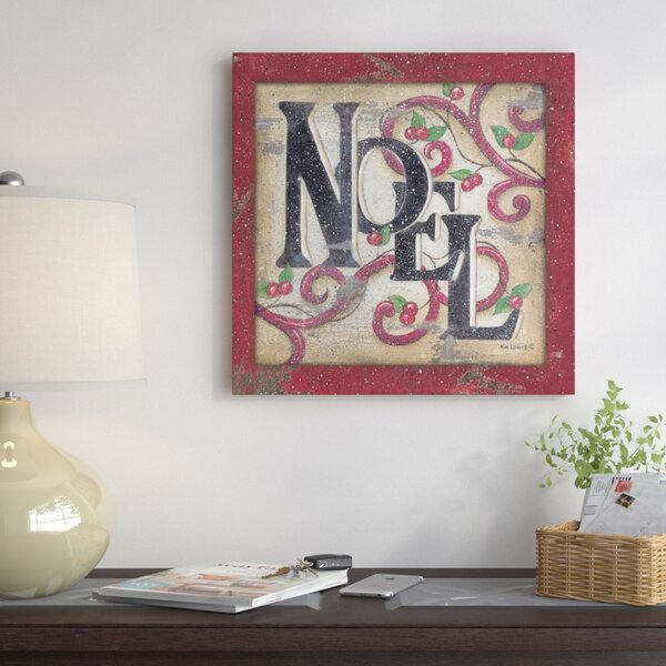 Noel II Textual Art on Wrapped Canvas by The Holid
