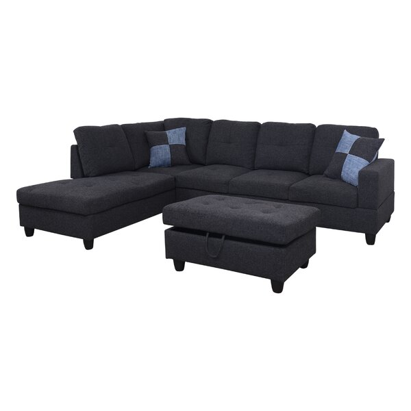 Stagbriar Sectional with Ottoman by Ebern Designs