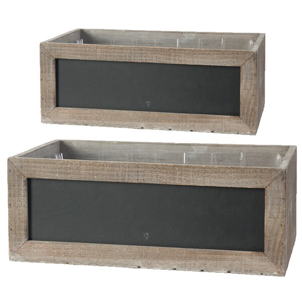 2 Piece Wood Planter Box Set by August Grove
