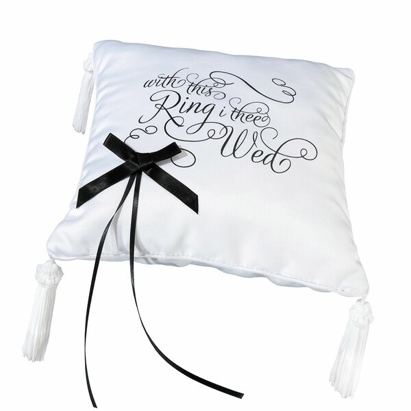 With This Ring I Thee Wed Ring Bearer Pillow by Lillian Rose