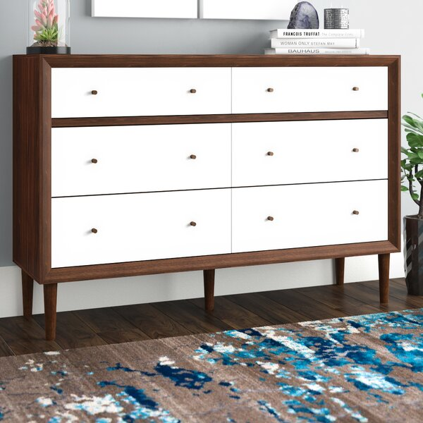 Sunset 6 Drawer Double Dresser by Langley Street