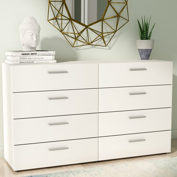 Modern  Pannell 8 Drawer Double Dresser By Wade Logan Coupon