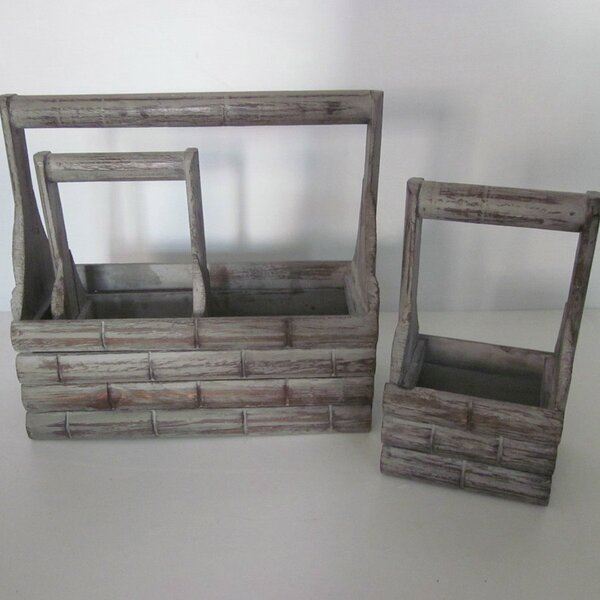 Wood Planter Box Set (Set of 2) by Screen Gems