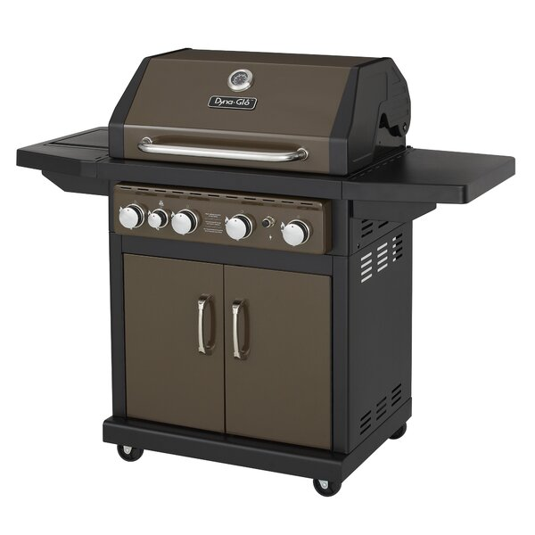 4-Burner Natural Gas Grill with Cabinet by Dyna-Glo
