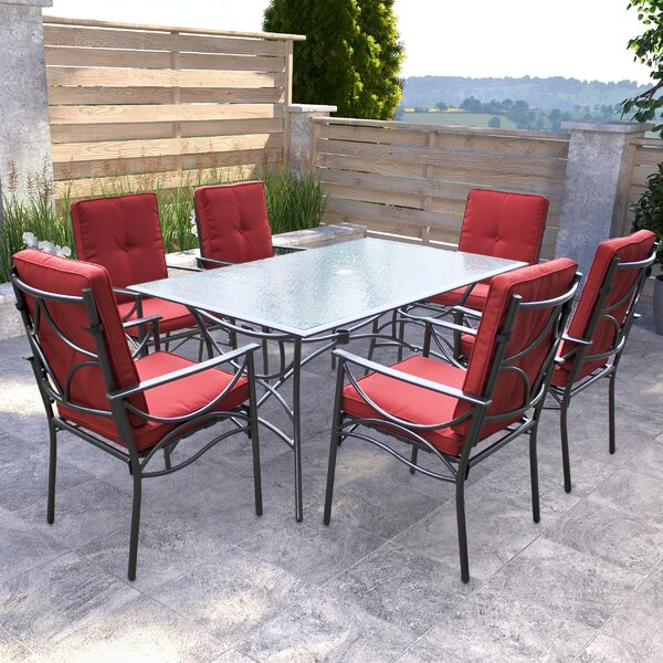 Oliver 7 Piece Dining Set with Cushions by Darby Home Co