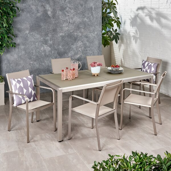 Buxton Outdoor 7 Piece Dining Set by Freeport Park