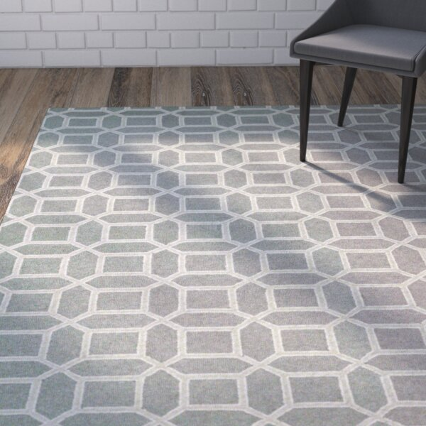 Lopes Hand Woven Wool Charcoal/Gray Area Rug by Brayden Studio