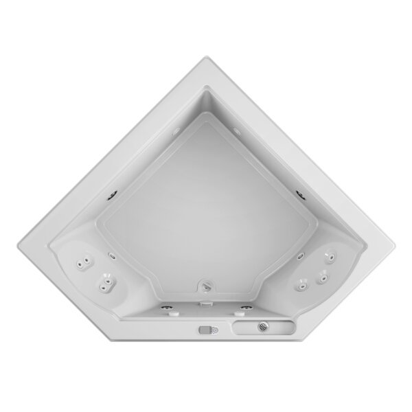 Fuzion Illuma LCD Left-Hand 66 x 66 Drop-In Whirlpool Bathtub by Jacuzzi®