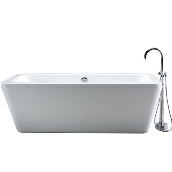 Kido 69 x 23 Acrylic Freestanding Bathtub by Ove Decors