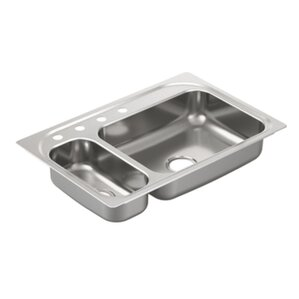 Moen 2000 Series Double Bowl Drop-In Kitchen Sink