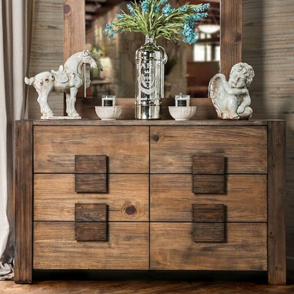 Joan 6 Drawer Double Dresser by A&J Homes Studio