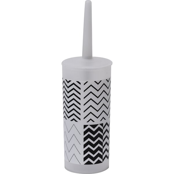 Zigzag Toilet Bowl Brush Holder by EvidecoZigzag Toilet Bowl Brush Holder by Evideco