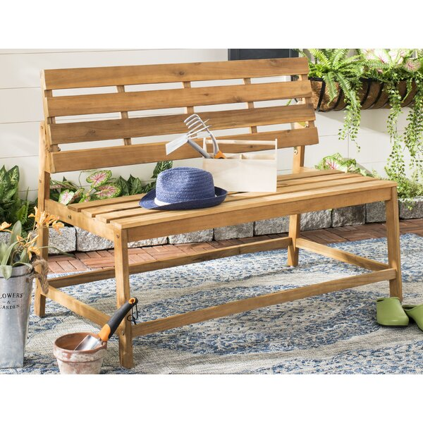Gere Balcony Wooden Picnic Bench by Highland Dunes