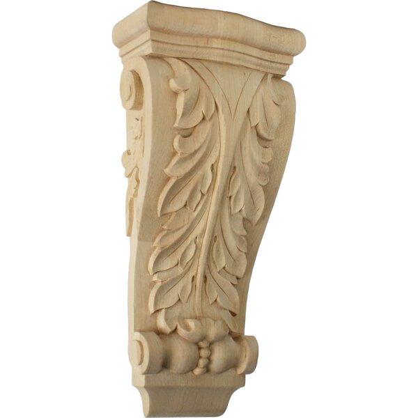 Farmingdale Acanthus 13 1/2H x 6 1/4W x 3 1/8D Medium Pilaster Corbel in Alder by Ekena Millwork