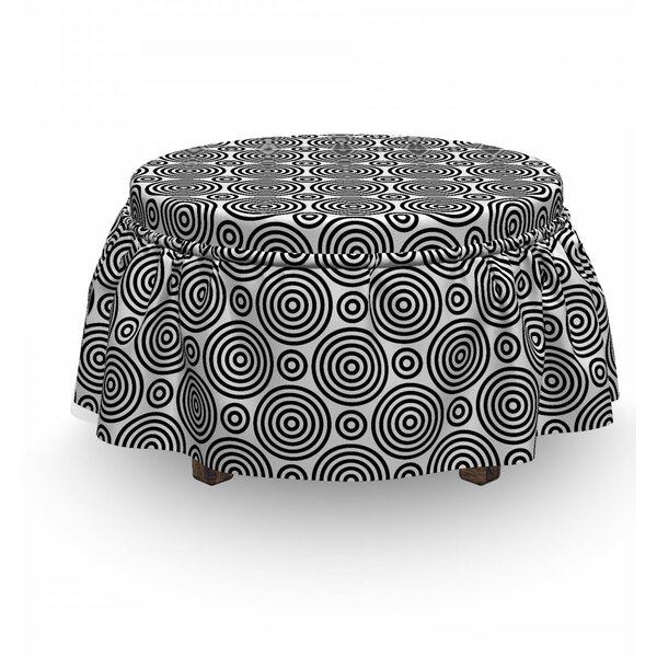 Symmetry And Rhythm Ottoman Slipcover (Set Of 2) By East Urban Home