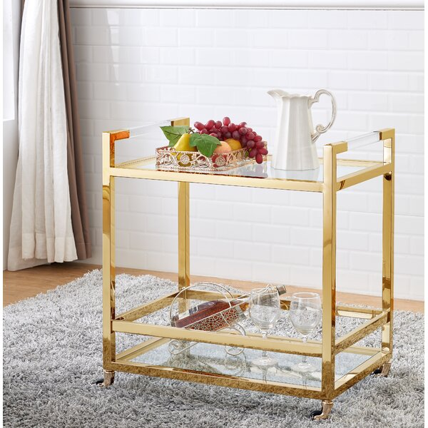 Geiser Acrylic Bar Cart by Orren Ellis