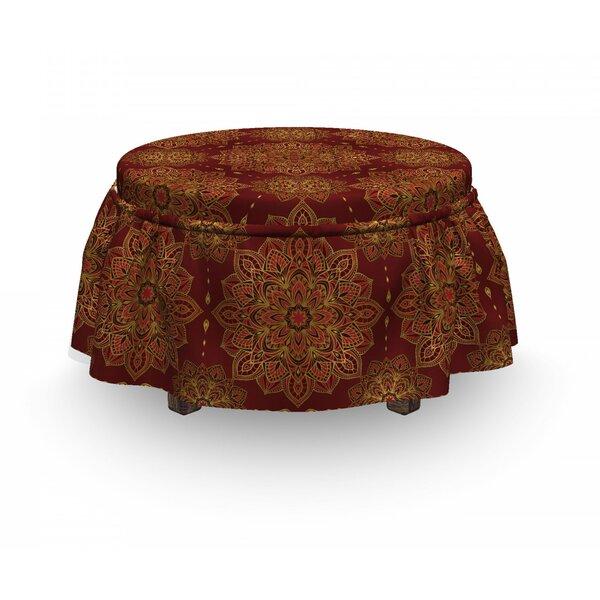 Mandala Inspiration 2 Piece Box Cushion Ottoman Slipcover Set By East Urban Home