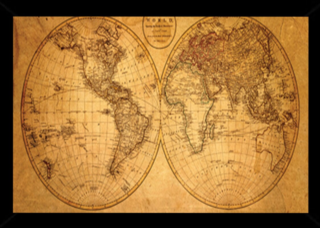Frame USA \'Old World Map\' Framed Graphic Art Print, Poster & Reviews ...