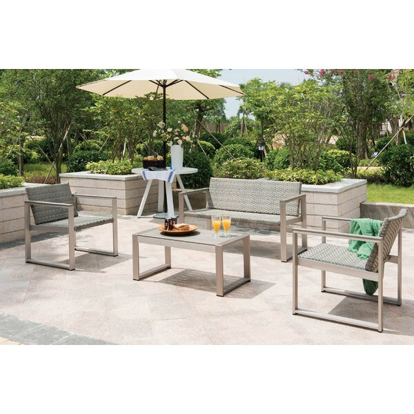 Chester Rise 4 Piece Sofa Seating Group with Cushions by Orren Ellis