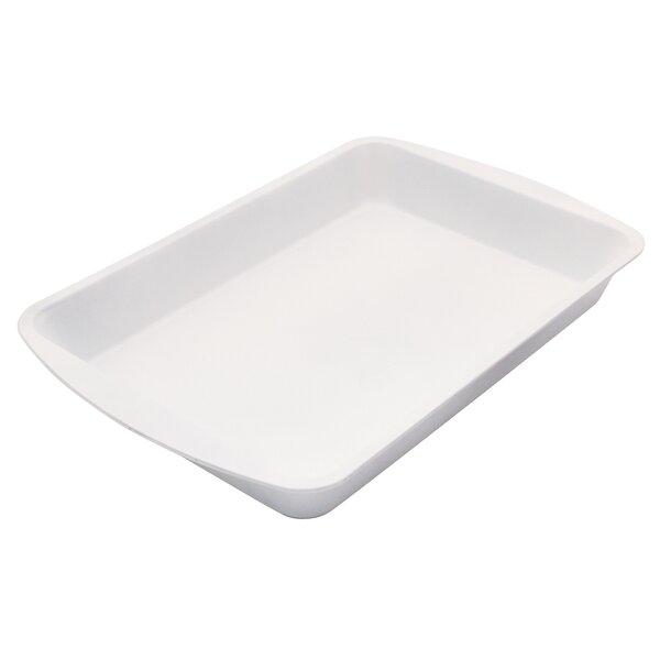 Cerama Bake Nonstick Rectangular Roaster Pan by Range Kleen