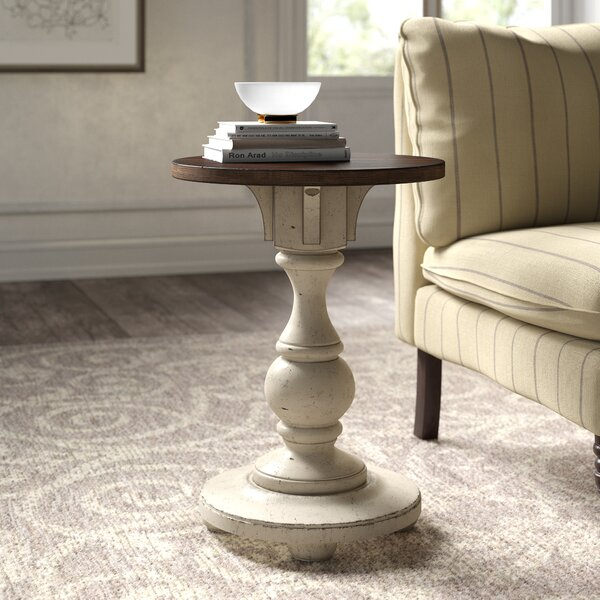 Solid Wood Pedestal End Table By Kelly Clarkson Home